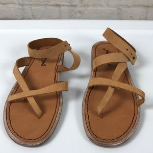 🆕 Free People Light Brown Strappy Sandals Size  7
